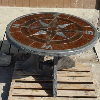 Concrete Compass Table